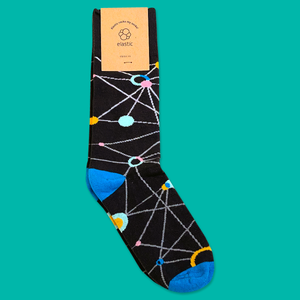 Elastic - Black Elastic Socks