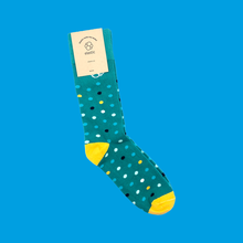 Elastic - Teal Dot Graph Socks