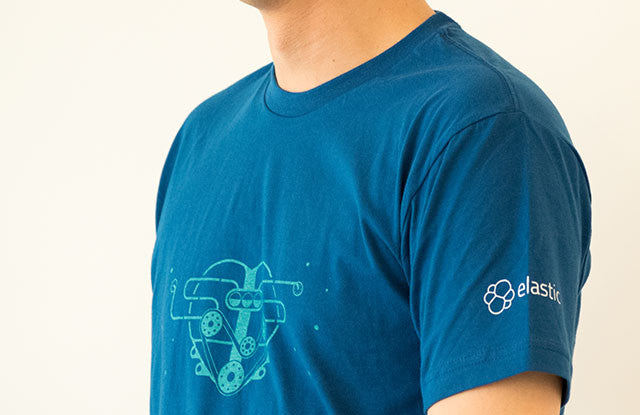 Elasticsearch Engine Heart T-Shirt - Straight Cut