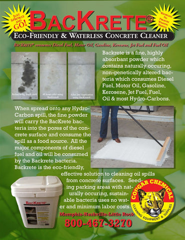 Cougar BacKrete Concrete Cleaner