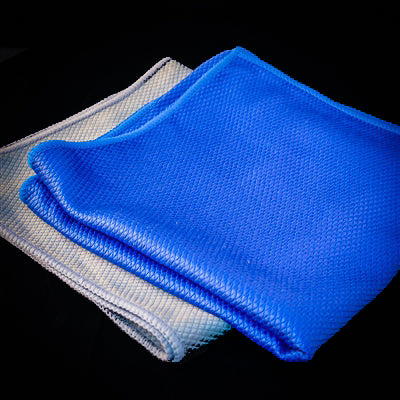 Diamond Weave Microfiber Glass Towels