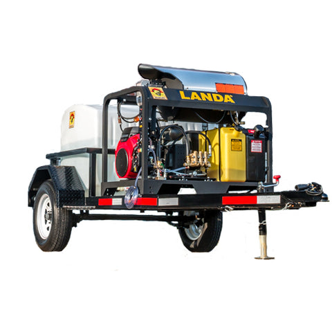 Hot Water Pressure Washer Trailer Rental