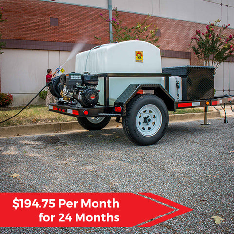 Cougar Catamount 200 Cold Water Pressure Washer Trailer Package