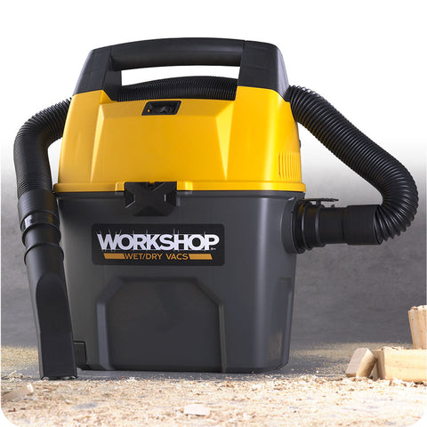 Workshop WS0300VA 3 Gallon 3.5 Peak HP Portable Wet/Dry Vacuum