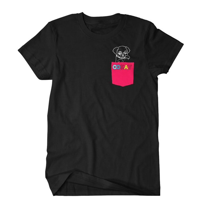 Puppy Pocket Tee (Black)