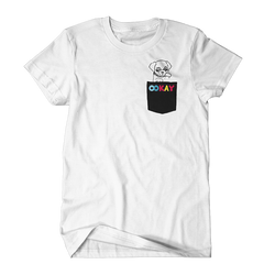 Puppy Pocket Tee (White)