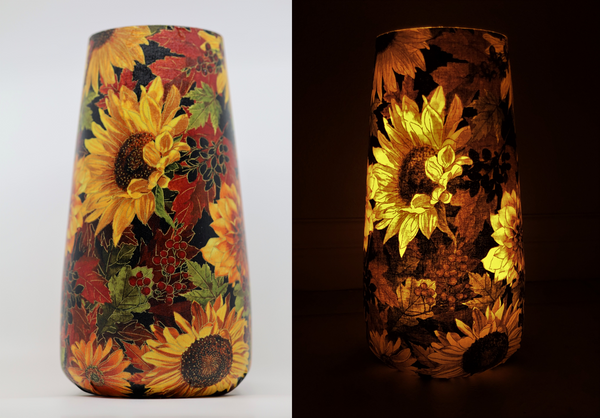 Art Vase Art Lamp - Sunflower Floral