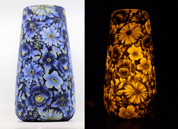 Art Vase Art Lamp - Blue Floral
