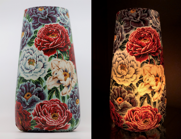 Art Vase Art Lamp - Multi Floral