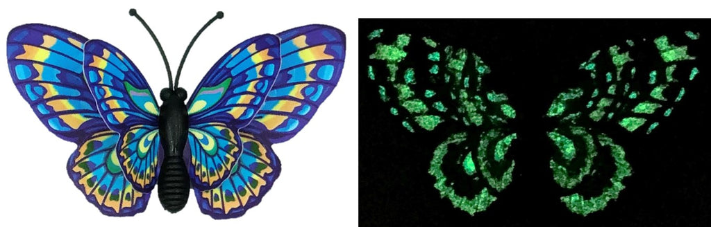 CLMG-128 Blue Whimsical GLOW Butterfly