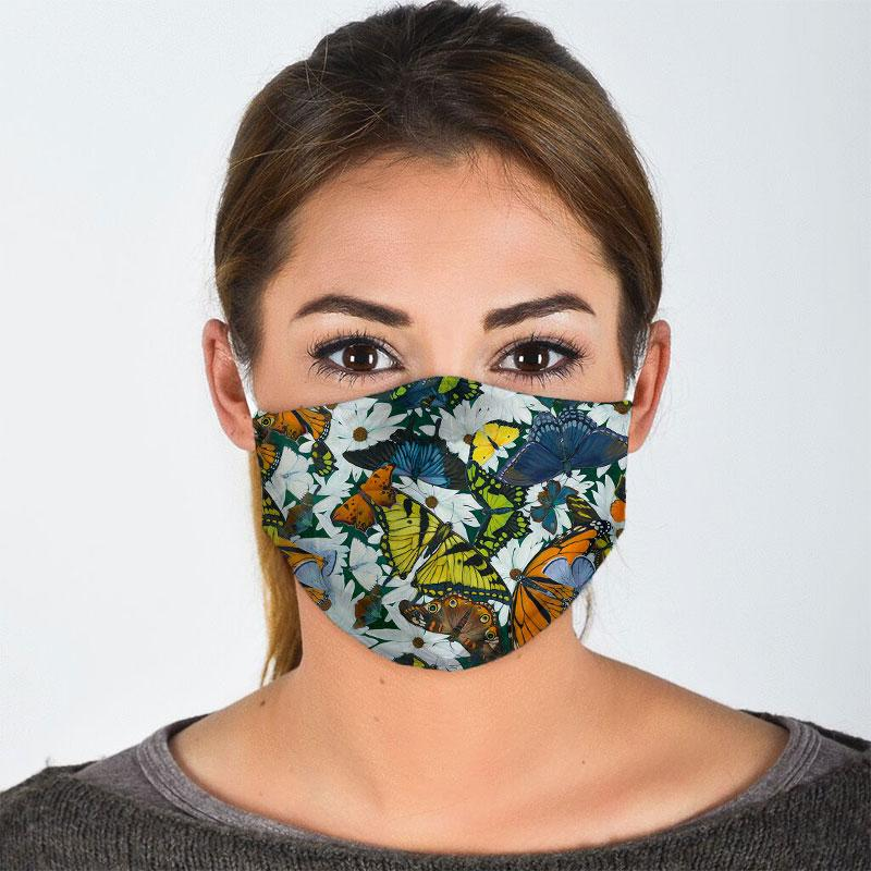 Butterflies of North America Face Mask