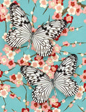 Rice Paper Butterflies on Cherry Blossoms - Japanese Chiyogami Series