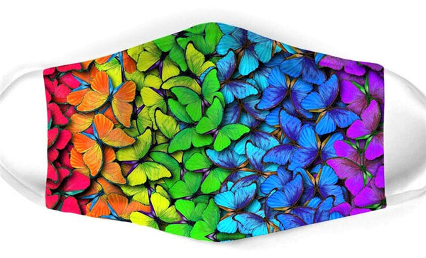 Rainbow Butterfly Face Mask