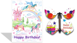 Magic Butterfly Cards - Happy Birthday Unicorns