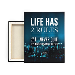 Life Rules - 16x20 canvas print
