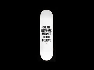 "5 Step - Skate Deck 8"" (White)"