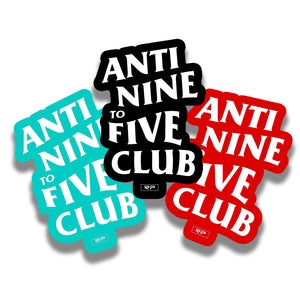 Anti Nine to Five 3 Sticker Pack (colored)
