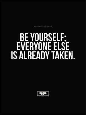 Be Yourself - 18x24 Poster