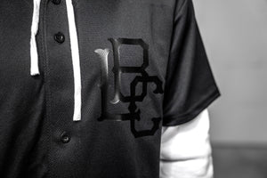 Long Beach Baseball Jersey - Black on Black
