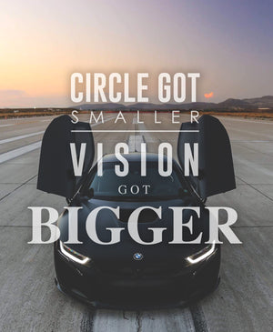 Smaller Circle Bigger Vision - 16x20 Canvas Print