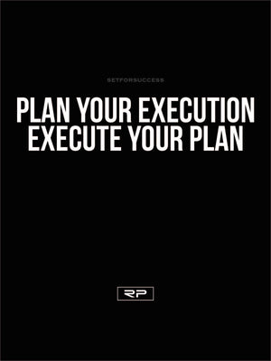 Plan Your Execution - 18x24 Poster