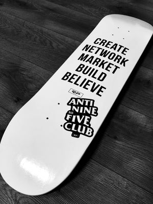 "5 Step - One Off Skate Deck 8"" (White)"