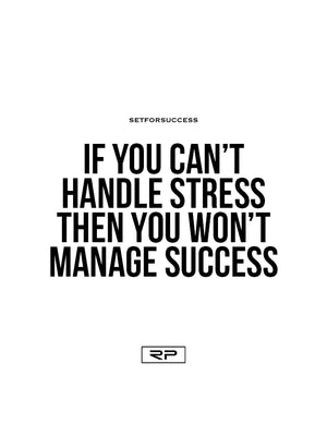 If You Can't Handle The Stress - 18x24 Poster