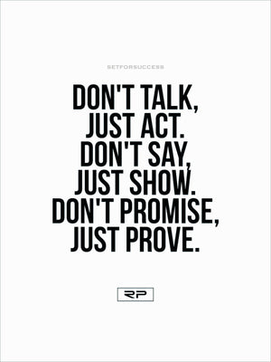 Just Prove. - 18x24 Poster