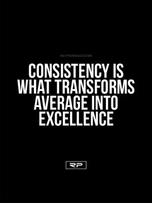 Consistency - 18x24 Poster