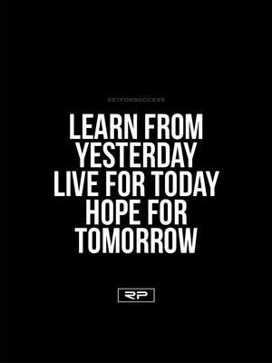 Learn, Live, Hope - 18x24 Poster