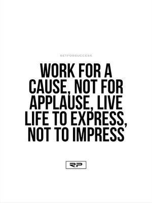Live to Express - 18x24 Poster