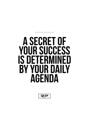 Daily Agenda - 18x24 Poster
