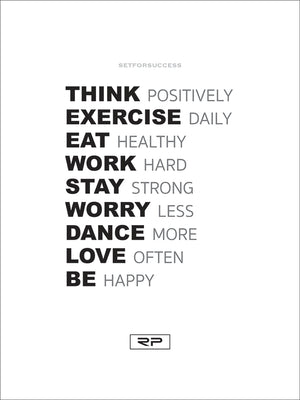 THINK POSITIVELY - 18x24 Poster