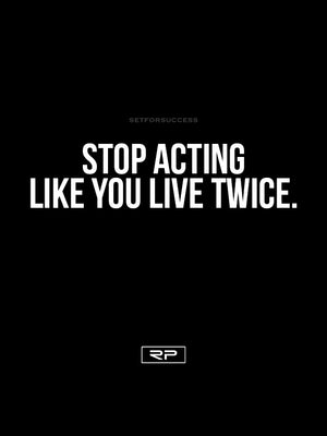 Stop Acting - 18x24 Poster