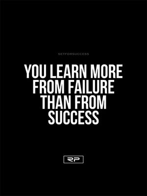 LEARN FROM FAILURE - 18x24 Poster