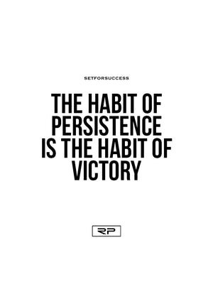 The Habit Of Persistence Is The Habit Of Victory - 18x24 Poster