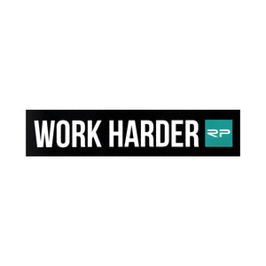"Work Harder 7"" Sticker"