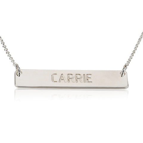 Sterling Silver Personalised Bar Necklace