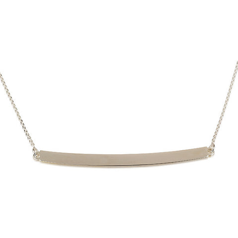Sterling Silver Bar Tube Necklace