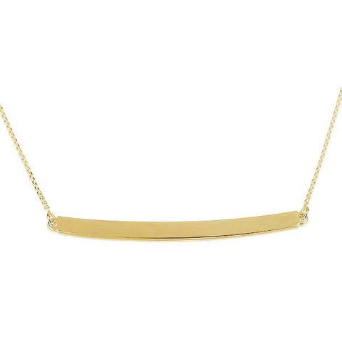 18K Plated Gold Bar Tube Necklace