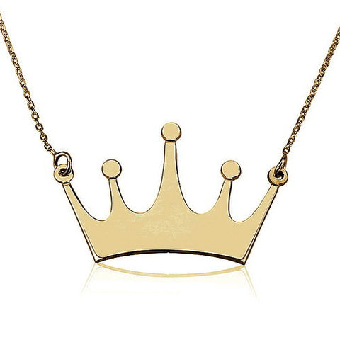 18K Gold Plated Crown Necklace