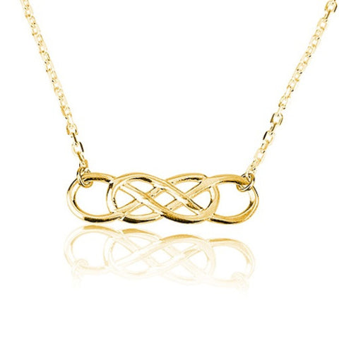 18K Gold Plated Double Infinity Necklace