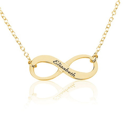 18K Gold Plated Personalised Infinity Name Necklace