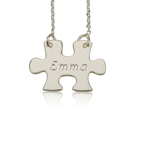 Sterling Silver Personalised Puzzle Necklace