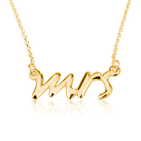 18K Gold Plated Mrs Necklace