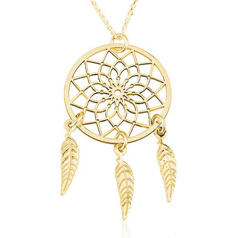 18K Gold Plated Dreamcatcher Necklace