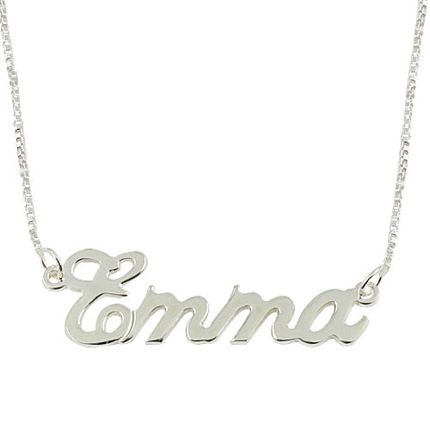 Sterling Silver Personalised Carrie Style Name Necklace