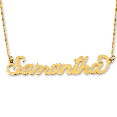 14K Solid Gold Personalised Name Necklace