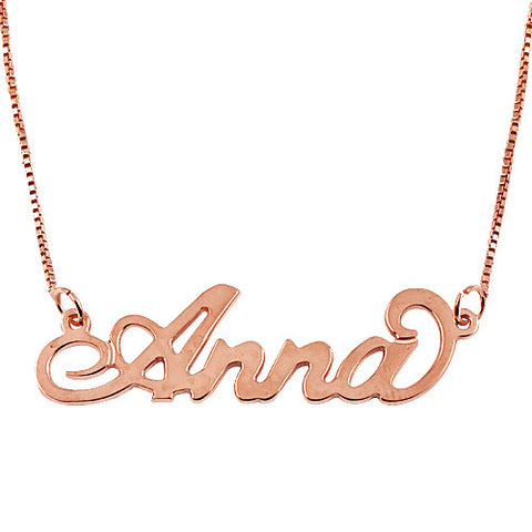 Personalised  Name Necklace in Rose Gold