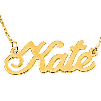 18K Gold Plated Double Thickness 'Extra Large' Personalised Name Necklace